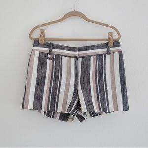 LOFT Striped Linen Shorts